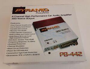 NEW Vintage PYRAMID Reno Series PB-442 Car Audio 300 Watt 4 Channel Amplifier
