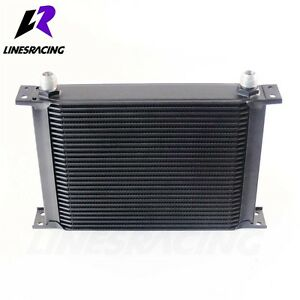 28 Row 10AN Universal Engine Transmission 248mm Oil Cooler Kit Black FITS Ford