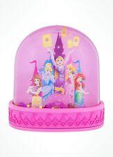 Disney Parks Princesses Tangled Ariel Belle Cinderella Aurora Snowglobe Pink