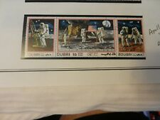 Lot of 3 Dubai Apollo 11 Moon Landing Stamps from 1969