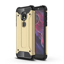 For Motorola E5 / E5 Play /E5 Plus Armor Case Phone Hybrid PC Hard Silicon Cover