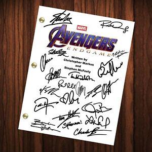 Avengers Endgame Signed Autographed Script Full Screenplay Full Script Reprint