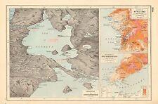 1920 MAP WORLD WAR 1- GALLIPOLI, DARDANELLES, SUVLA