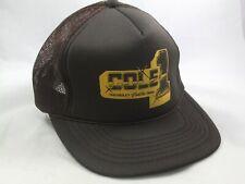 Cole Chevrolet Cadillac Geo Dealership #1 Hat Vintage Brown Snapback Trucker Cap