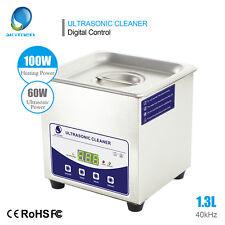 Skymen 1.3L(0.34gal) Stainless Steel Ultrasonic Cleaner Bath Timer/Degas/Heating