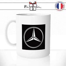 Mug Mercedes Voiture Car Logo Noir et Blanc Luxe Conduite - Tasse personnalisée