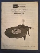 Sears Craftsman - Edge Crafter No. 25188 - Owners Manual - 1979