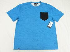 $42 NWT Mens Akademiks T-Shirt Bluez Digital Print Pocket Tee Sz 3XL 3XB 3X M957