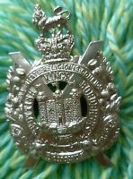 VICTORIAN King's Own Scottish Borderers Cap Badge WM Slider