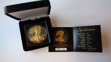 1$ Dollar USA 2014 WALKING LIBERTY Black Ruthenium / Gold