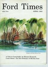 April 1963 Ford Times Magazine/Great Cover Art/Dune Buggies