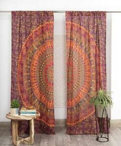 Handmade Peacock And Camel Mandala Window Curtains Tapestry Drape Sheer Wall