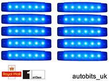 10 pcs Bleu 24V 6 LED Feu de Position Clignotants Camion Remorque Bus