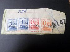 FRANCE LOT 4 timbres COLIS POSTAUX sur fragment oblitérés, VF cancelled stamps