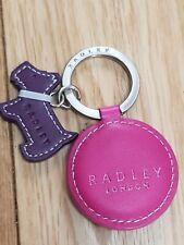 GENUINE RADLEY SCOTTY DOG KEY RING ONLY ONE ON EBAY RARE Pink COLOUR KEYRING