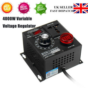 220V 4000W Variable Voltage Regulator Speed Motor Fan Control Controller