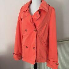 Per Una Marks & Spencer Ladies Orange Cotton Mac Rain Coat Jacket - Size UK 16