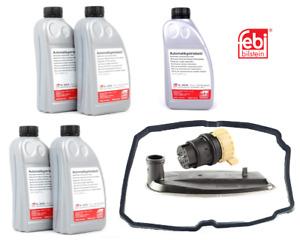 Mercedes Transmission Plug Adapter+Filter+Gasket+5 Liter Fluid Kit FEBI
