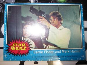 STAR WARS VINTAGE CARD TOPPS CARRIE FISHER MARK HAMILL 61 977 SERIE 1 POSTER SET