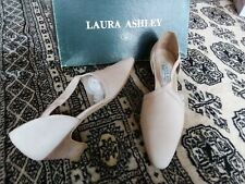 VINTAGE LADIES LAURA ASHLEY CREAM SUEDE LEATHER SHOES WEDDING UK 6 40  WORN ONCE