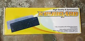 New Computer Keyboard   PS/2 Interface   Black
