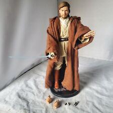 """SIDESHOW STAR WARS First Obi-Wan Kenobi 12"""" 1/6 ACTION FIGURE JEDI MASTER LOOSE"""
