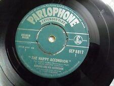 "ADRIANO & HIS ACCORDION GEP 8817 RARE SINGLE 7"" INDIA INDIAN 45 rpm VG+"
