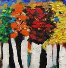 ORIGINAL Landscape Acrylic Outsider Self taught Mary Carol MCW Primitive