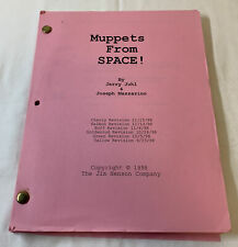 1998 set used movie script ~ MUPPETS FROM SPACE!