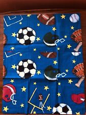 Whisper Soft Mills Sports Football Baseball Twin Sham & Bedskirt NWOT