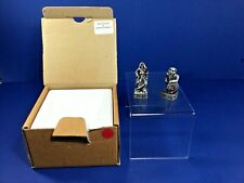 "Gorham Pewter, The Magic Crystal Chess Set, ""Sorcerer & Dwarf"" w/ Crystal, Nib"