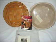 Longaberger 2000 Small Catch All Basket Combo liner & protector 2 signatures