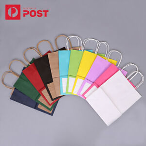 20pcs Kraft Paper Bag Gift Carry Shopping Party Gift Bags With Handles Small