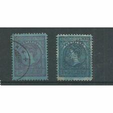 Ned. Indië  60b-61b Wilhelmina VFU/gebr  CV 60 €