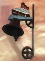 Unique Vintage Cast Iron Working Bell Titanic Wall Mountable***