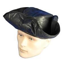 Pirate Hat Distressed Black. Fancy Dress Accessory #AU
