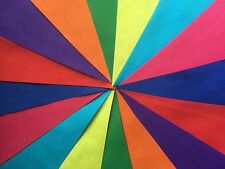 HANDMADE FABRIC BUNTING.MULTI COLOURED FLAGS.LOADS OF DIFFERENT LENGTHS.PARTIES