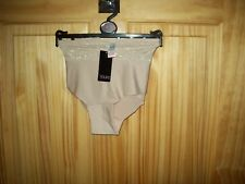 ***LOOK**NEW BEIGE LACE DETAILED BRIEFS  NO VPL SIZE 18-20 ***