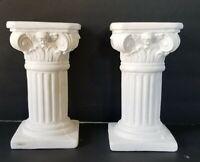"""Column and Base Concrete Plaster Cement Garden Patio/Home decor 8"""" Tall"""