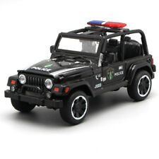 1:32 Jeep Off-road Police Vehicle Alloy Diecast Car Model Toy Kids Gift Black