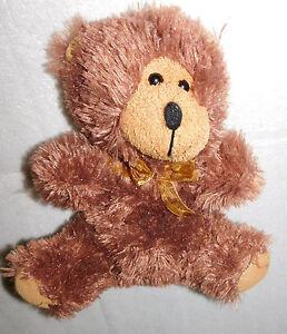 Brown Plush Teddy Bear Stuffed Animal Toy 10 in. Sheer Tulle Ribbon Greenbrier