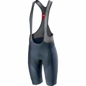 NEW Castelli Free Aero Race 4 Bib Shorts, Dark Steel Blue, X-Large