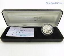1993 $1 LANDCARE COIN FAIR Silver Proof Coin