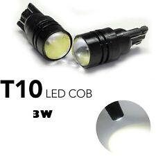 2 LAMPADINE T10 W5W LED COB 3w bianco GHIACCIO LUCE POSIZIONE TARGA INTERNI