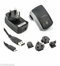Genuine Blackberry Micro USB World Mains Charger for 9700 9780 9790 9900 Bold