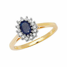 Anelli di lusso con gemme blu fidanzamento diamante