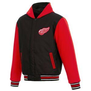 NHL Detroit Red Wings  JH Design Two Tone Reversible Fleece Hooded Jacket