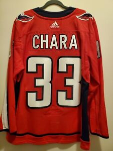 Washington Capitals Zdeno Chara NHL Adidas Home Jersey Twill Lettering Size 52 L