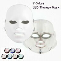 7 Colors Photon LED Light Therapy Facial Mask Skin Rejuvenation Anti-aging Acne