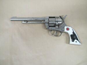 "Vintage Large 12"" Cap Gun Pistol Hubley Cowboy 1950's Toy Revolver"